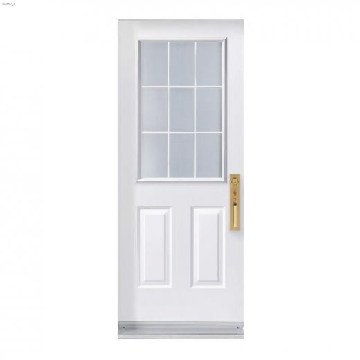 """34\"""" x 80\"""" 9 Lite Exterior Steel Door"""