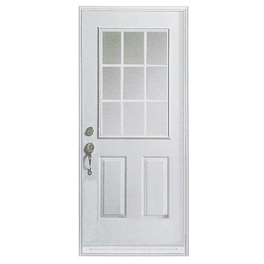 """36"""" x 80"""" 9 Lite Utility Exterior Steel Door"""