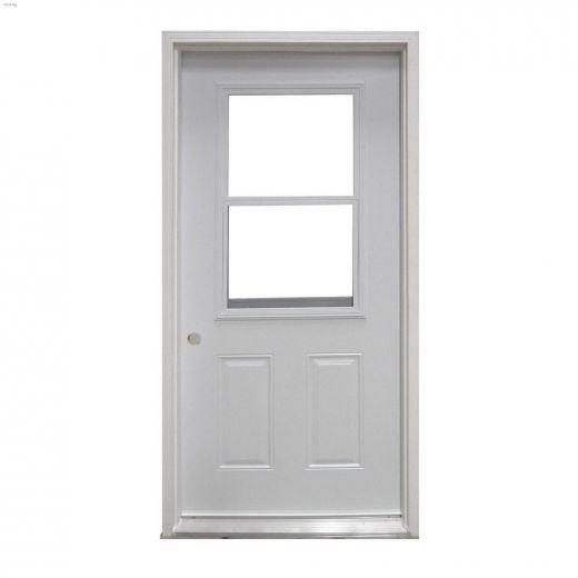 """32\"""" x 80\"""" Vented Exterior Steel Door"""