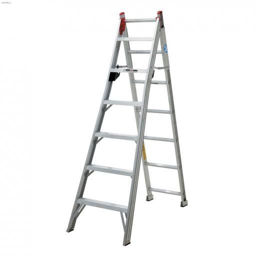 7' Aluminum Type 2 2-Way Combination Ladder