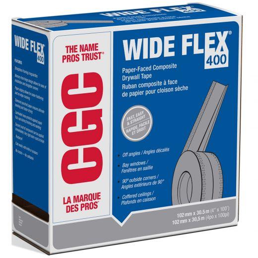 "Strait-Flex® Wide-Flex 400 4"" x 100' Silver Drywall Tape"