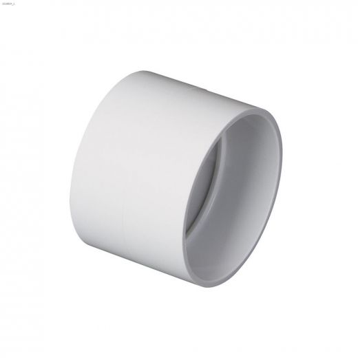 """2\"""" White Coupling For Central Vacuum Systems"""