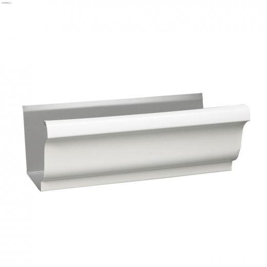"""10' x 5\"""" Aluminum Semi Gloss Gutter"""