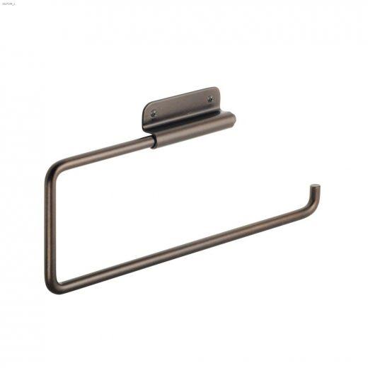 """12\"""" x 3\/4\"""" x 4-1\/2\"""" Steel Bronze Rondo Paper Towel Holder"""