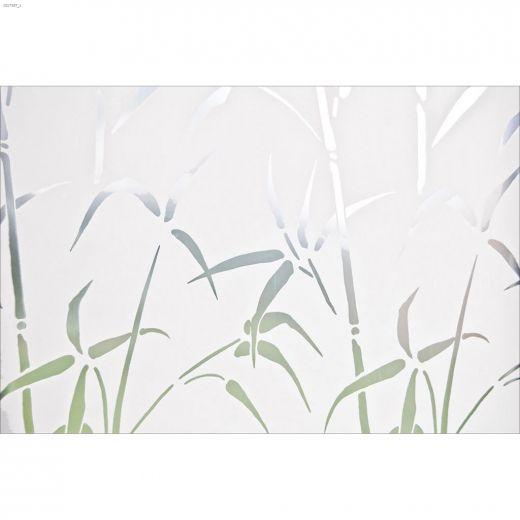 "17.71\"" x 78.74\"" Bamboo Static Privacy Window Film"