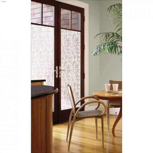 "35.43\"" x 78.74\"" Bamboo Static Privacy Door Film"