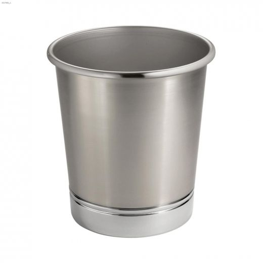 Brushed-Nickel Split Waste Can