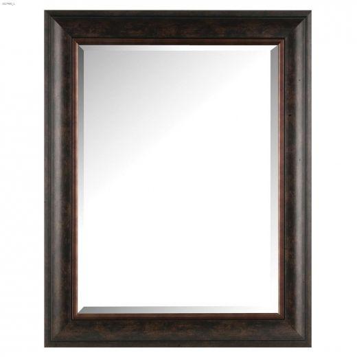 """Images 2000 24\"""" x 1\"""" x 30\"""" Bevel Dark Brown\/Bronze Mirror"""