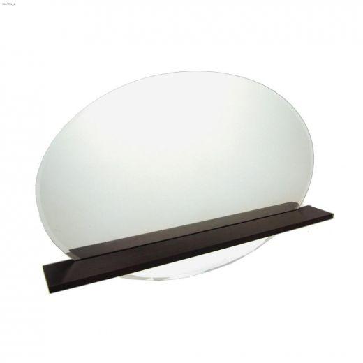 """Elado 20\"""" x 30\"""" Espresso Mirror With Shelf"""