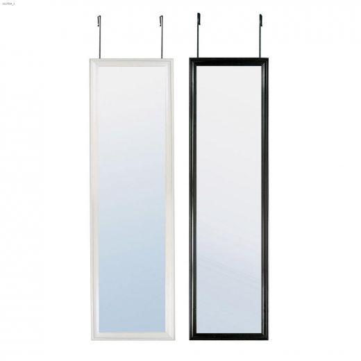 """Lautrec 14-3\/4\"""" x 53\"""" Black\/White Hang On Door Mirror"""