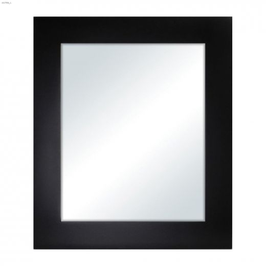 "Milano 24-1\/2\"" x 41-1\/2\"" Bevel Black Mirror"