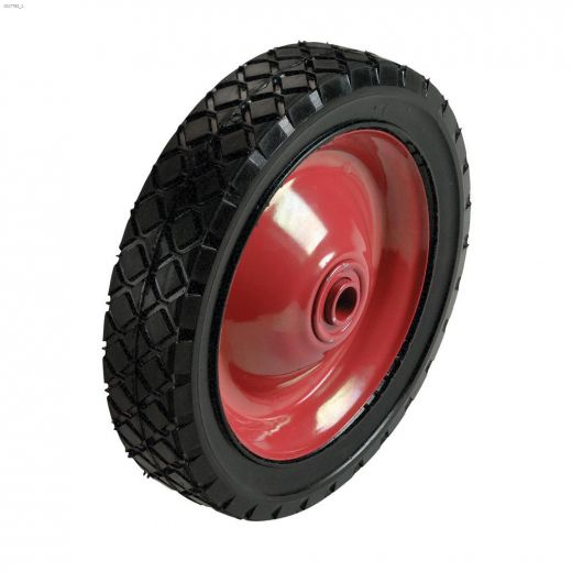 "6\"" Steel Hub Diamond Tread Semi-Pneumatic Wheel"