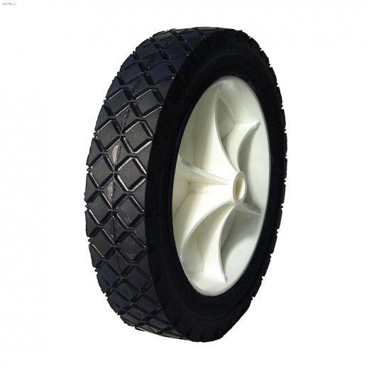 "7\"" Plastic Rim Diamond Tread Semi-Pneumatic Wheel"