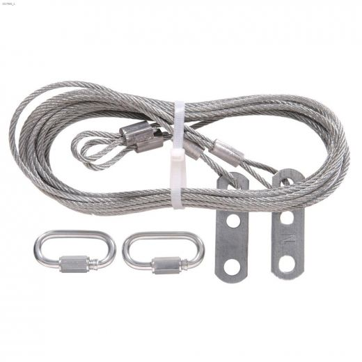 """1\/8\"""" x 8' 8\"""" Galvanized Safety Cable"""