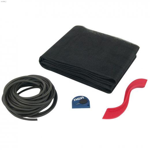 """36\"""" x 84\"""" Black Fiberglass Patio Door Screen Kit"""