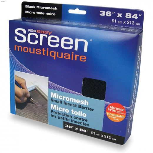 "EasyScreen\u2122 36\"" x 84\"" Black Fibreglass Micromesh Screen"