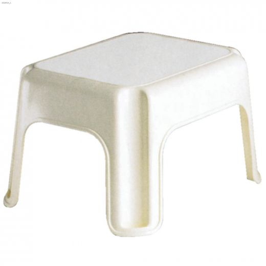 White Plastic Step Stool