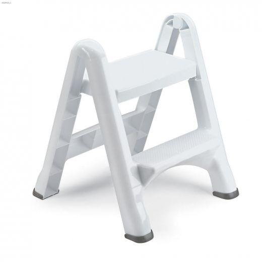 White Folding Step Stool