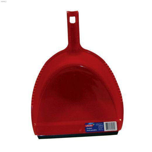 "14\"" Plastic Red Dustpan"