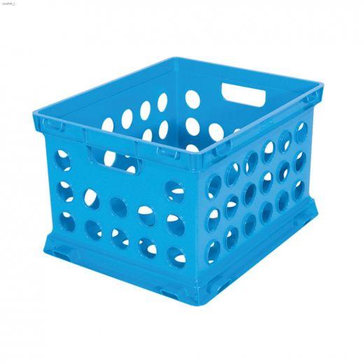 Black Plastic File Crate