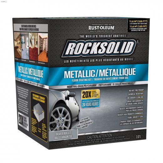 RockSolid\u00ae 2 L Silver Bullet Metallic Floor Coating Kit