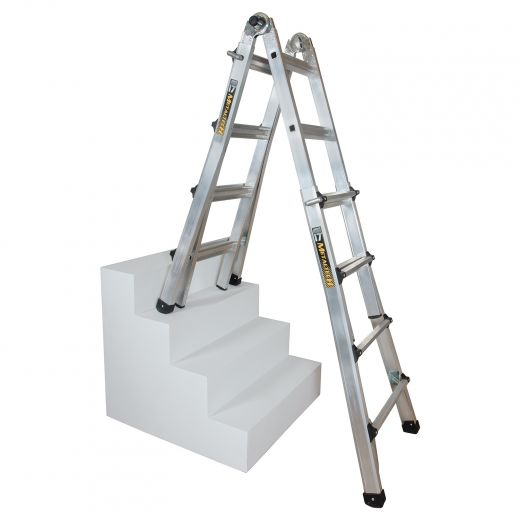 17' Aluminum Type IA Telescoping Multi-Position Ladder