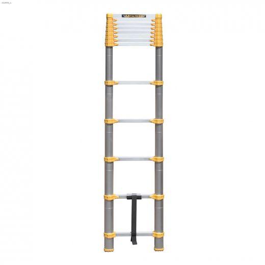 12.5' Aircraft Grade Aluminum Alloy Telescopic Ladder