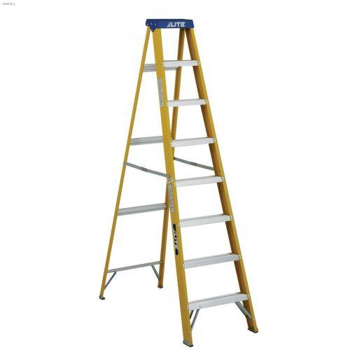 8' Yellow Fiberglass Type 1 Step Ladder
