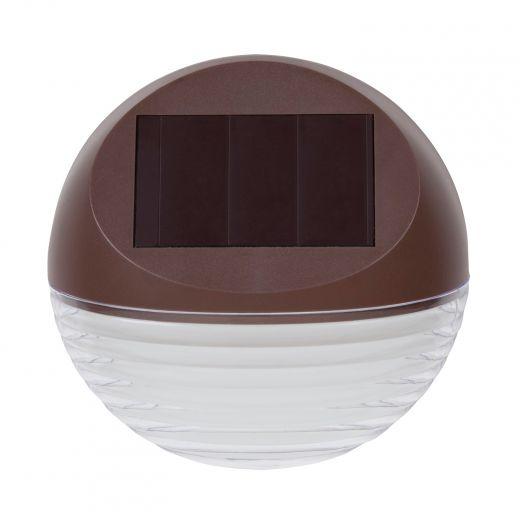 Plastic 4 Lumens Warm White Round Solar Wedge Light