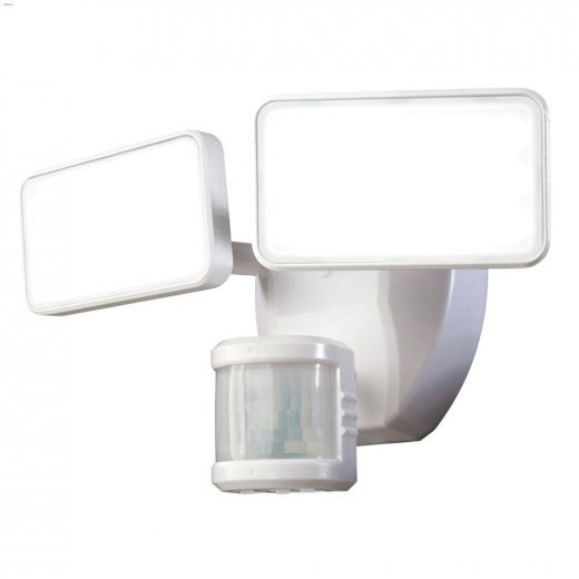 240 Degree White 2-Head Motion-Activated Security Light