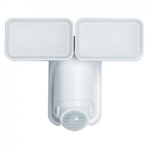 180 Degree White Twin Head Motion-Activated Security Light