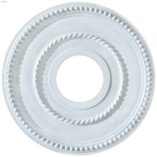 "3-5\/8\"" x 12\"" White Rope Design\/Pearl Ceiling Medallion"