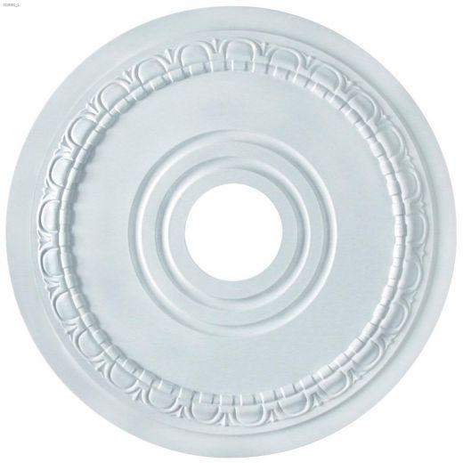 """3-1\/2\"""" x 17\"""" White Egg & Dart Ceiling Medallion"""