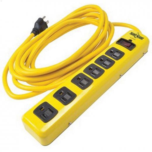 Surge Protector 14 AWG 15' Cord 6-Outlet Yellow