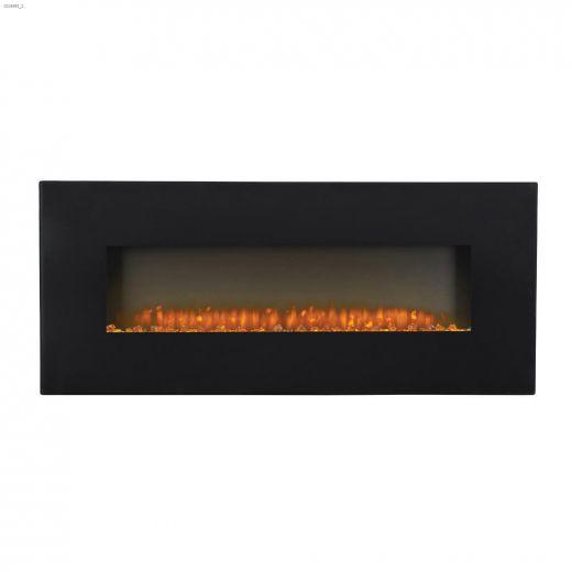 "5000 Btu 1500 Watt 50-3\/8\"" Electric Wall Mount Fireplace"