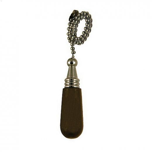"Elite 12\"" Dark Wood Chrome Chain Pull Chain"