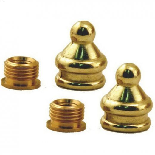 Metal Brass Decorative Finial With Reducer
