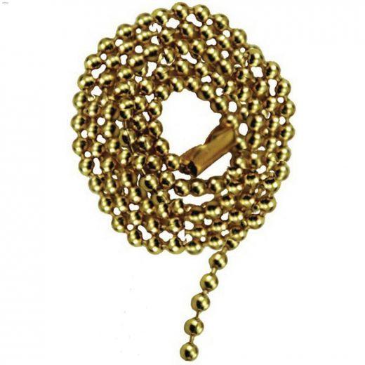 "24\"" Brass Beaded Pull Chain"