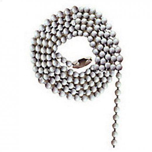"""36\"""" White Beaded Pull Chain"""
