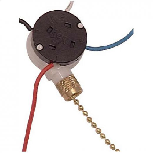 3 Speed\/8 Wire Fan Switch With Pull Chain