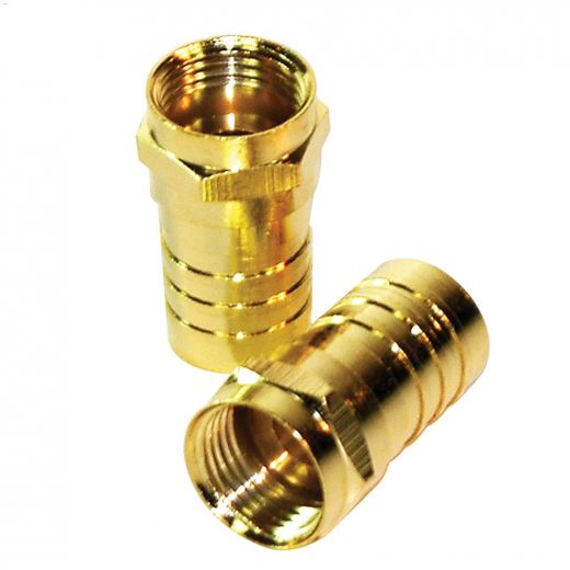 Brass Coaxial Crimp-On Connector-2\/Pack