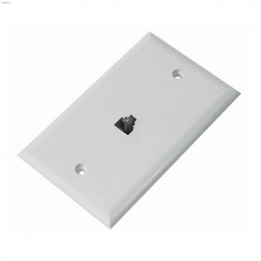 1-Gang 6 Conductor White Wall Outlet