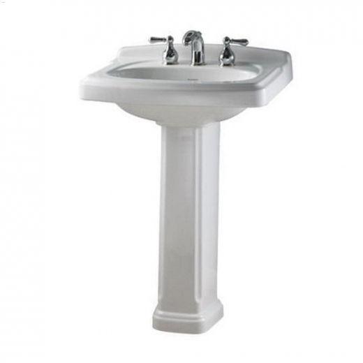 "Townsend 24-3\/8\"" x 19-1\/2\"" x 35-7\/16\"" White Pedestal Sink"