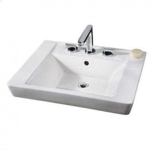 "Boulevard 24\"" x 19\"" White Countertop Sink"