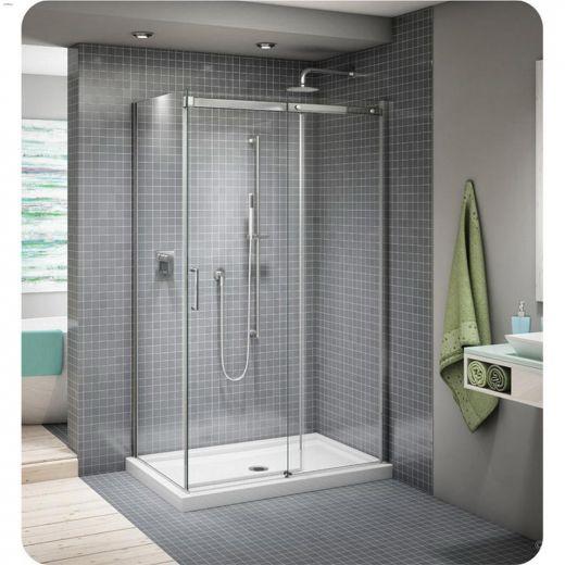 "57 - 60\"" x 75\"" Chrome Clear Sliding Shower Door"