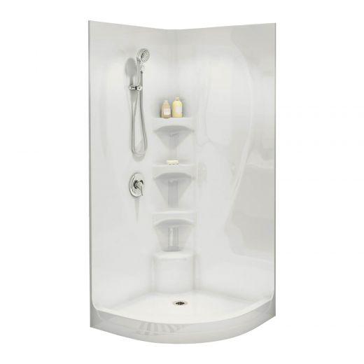 White Acrylic 3-Piece Equinox I Shower