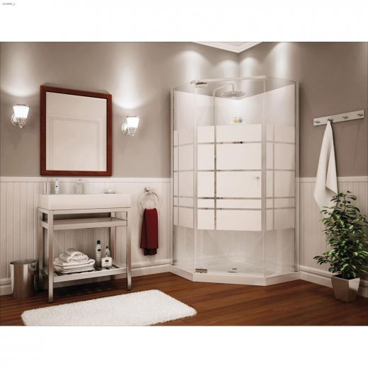 Soho\/Pebble Begonia White 3-Piece Shower