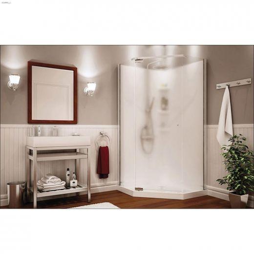 Pebble Begonia White 3-Piece Shower