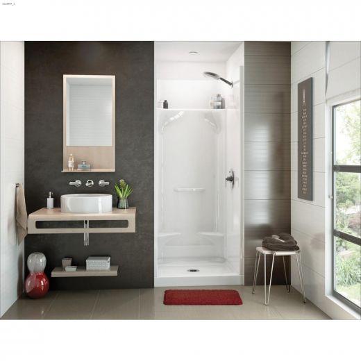 Essence SH-3232 White Fiberglass 4-Piece Alcove Shower