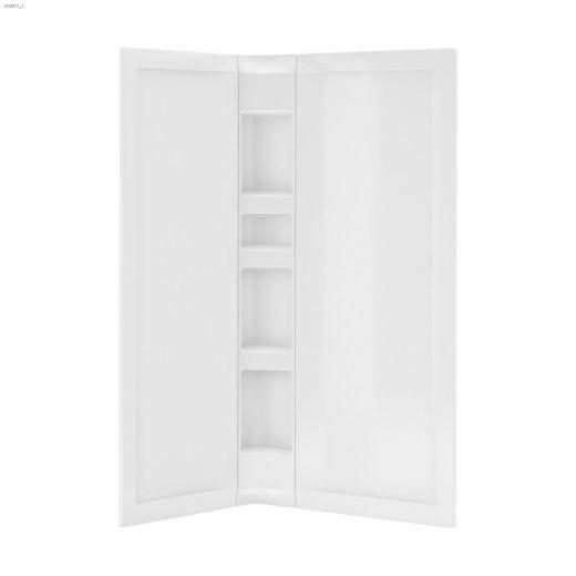 Nero White 3-Piece Shower Wall Set